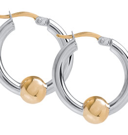 Lestage - Cape Cod 20MM Classic Hoop Gold Ball Sterling Silver Hoop Earring