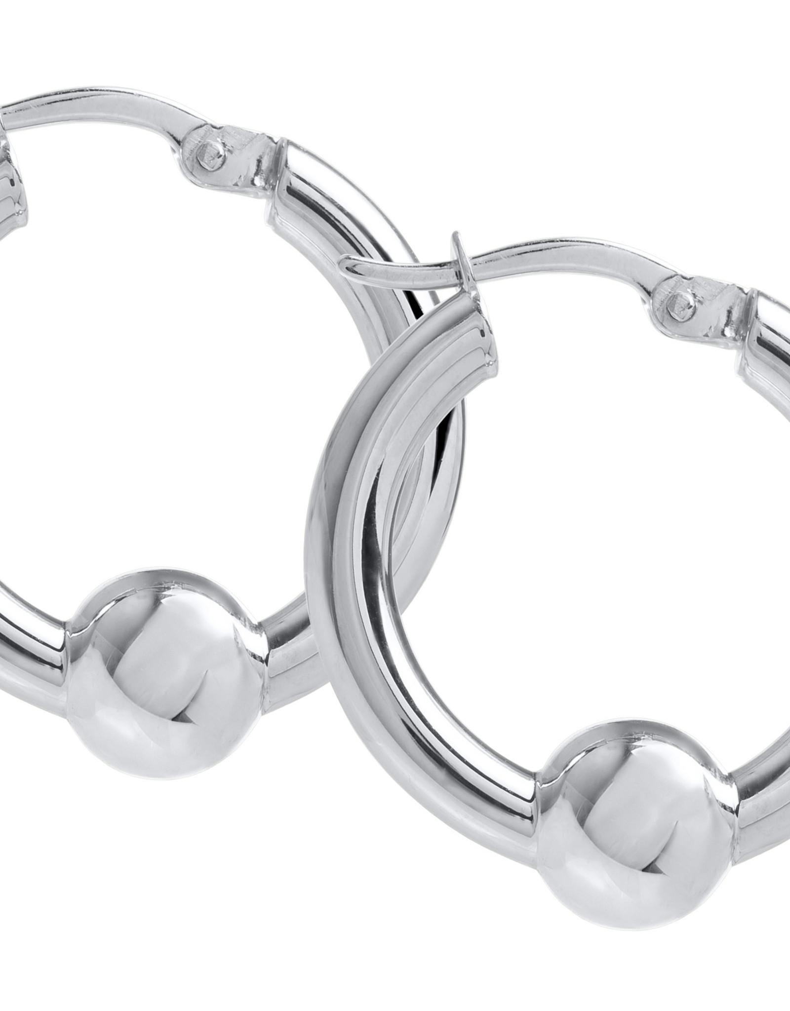 Lestage - 20MM Classic Hoop Sterling Silver Hoop Earring