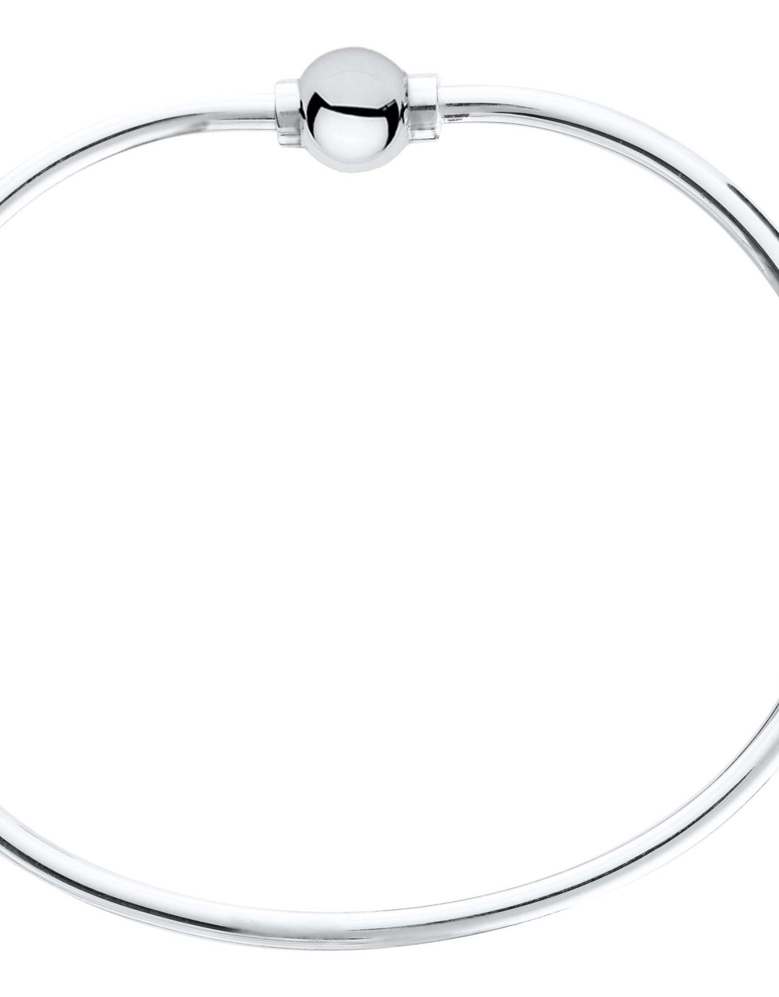 """LeStage - 6.5"""" Cape Cod Bracelet - Sterling Silver with a Sterling Silver Single Ball"""