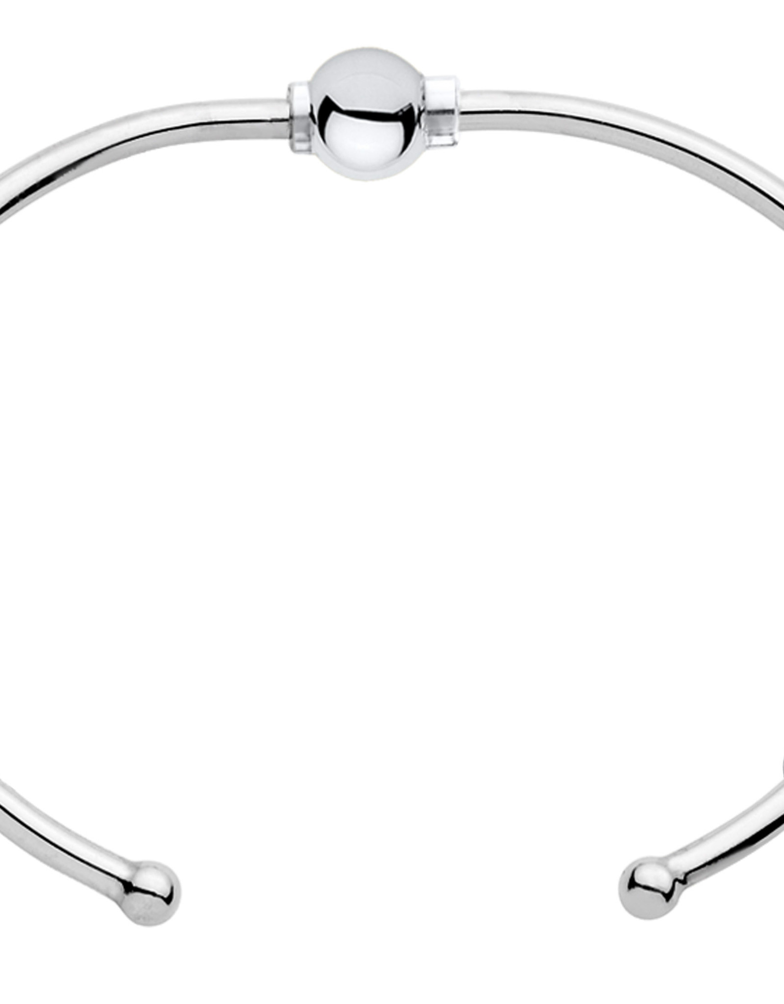 """LeStage - 7"""" Classic Cuff Cape Cod Bracelet - Sterling Silver with a Sterling Silver Ball"""