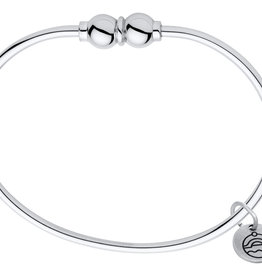 "LeStage - 6.5"" The Classic Cape Cod Double Ball Bracelet - Sterling Silver with a Sterling Silver Ball 6.5"""