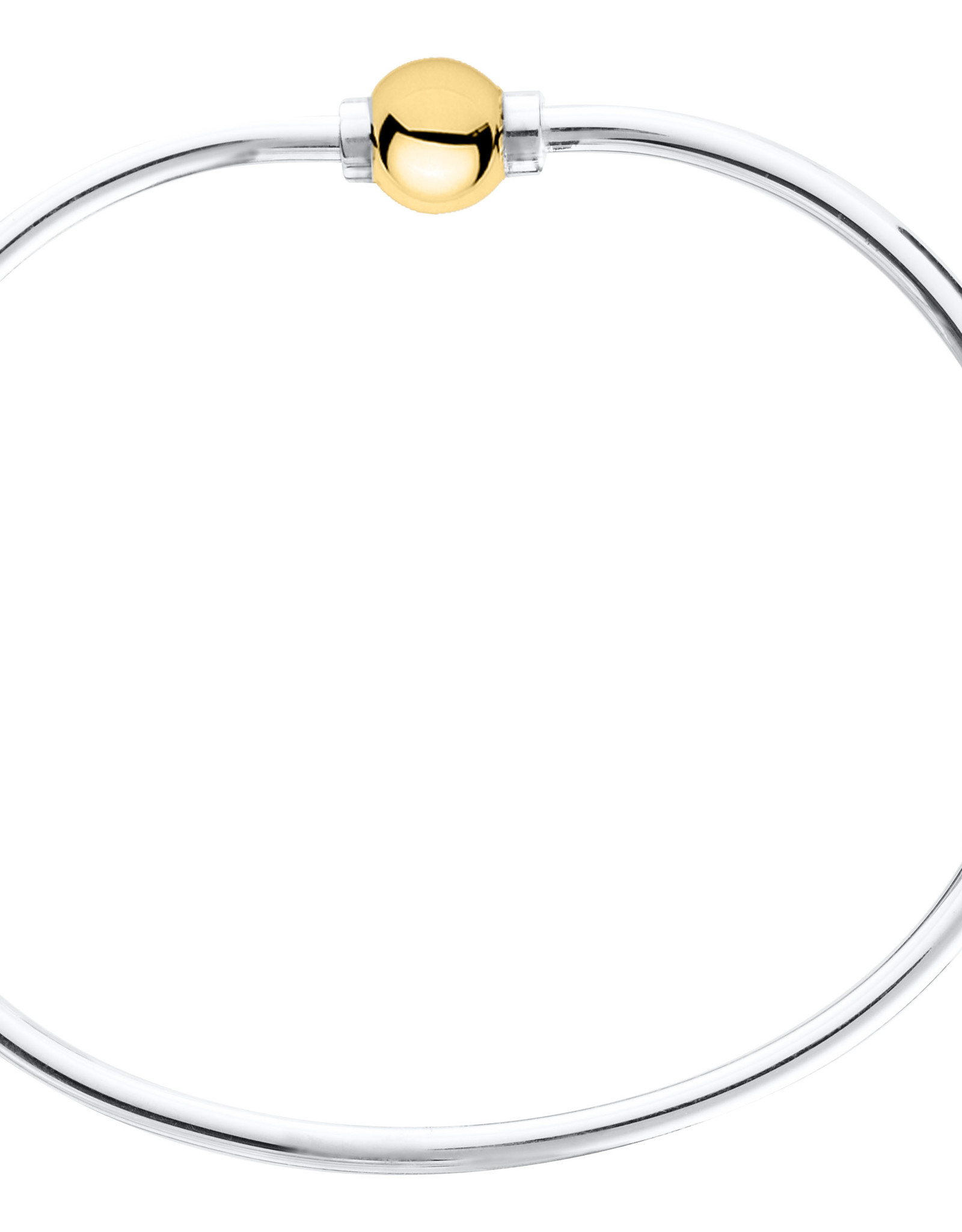 """LeStage - 6"""" The Classic Cape Cod Bracelet - Sterling Silver with a 14K Yellow Gold Ball"""