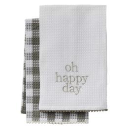 Mud Pie Mud Pie - Happy Day Waffle Towel Set