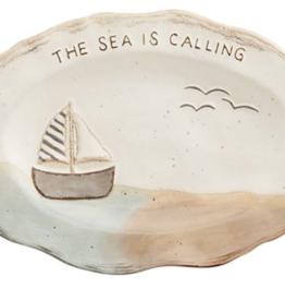 Mud Pie Mud Pie - Sea Plate - Sailboat
