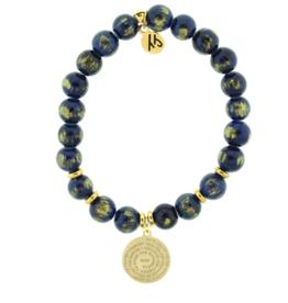 T. Jazelle T. Jazelle - Navy Gold Jade - Serenity Prayer Bracelet