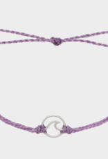Pura Vida Pura Vida - Silver Wave Lavender Bracelet