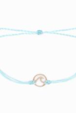 Pura Vida Pura Vida - Rose Gold Wave Bracelet - Seafoam