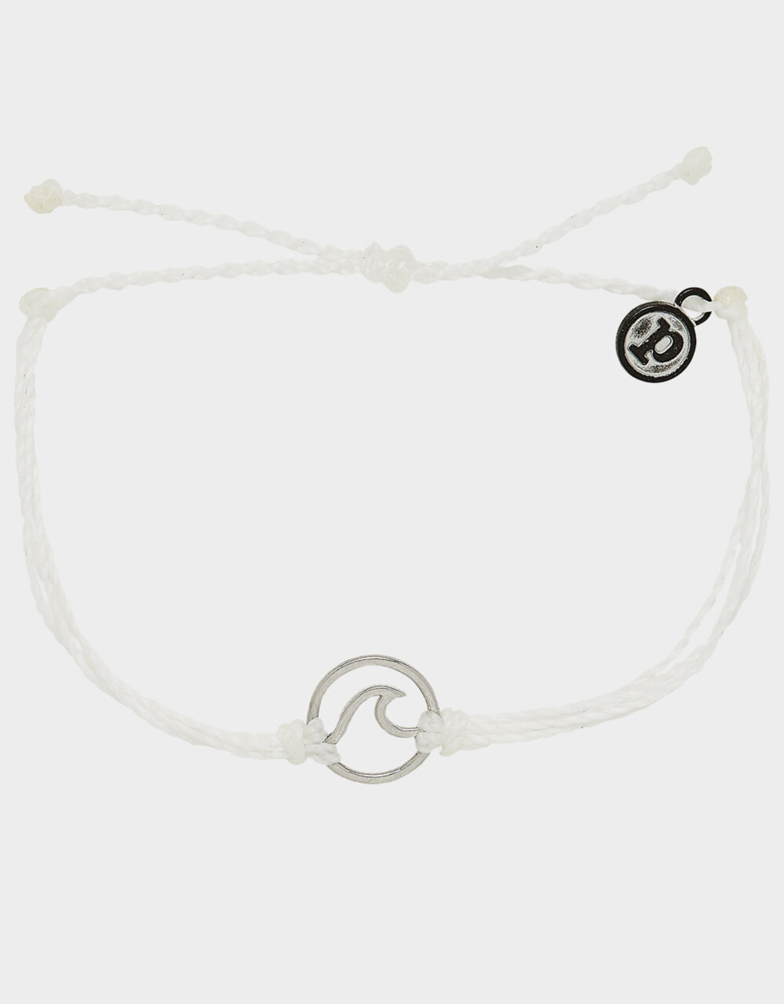 Pura Vida Pura Vida - Silver Wave White Bracelet