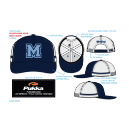 Pukka - Medfield Hat - M on front with Medfield on back