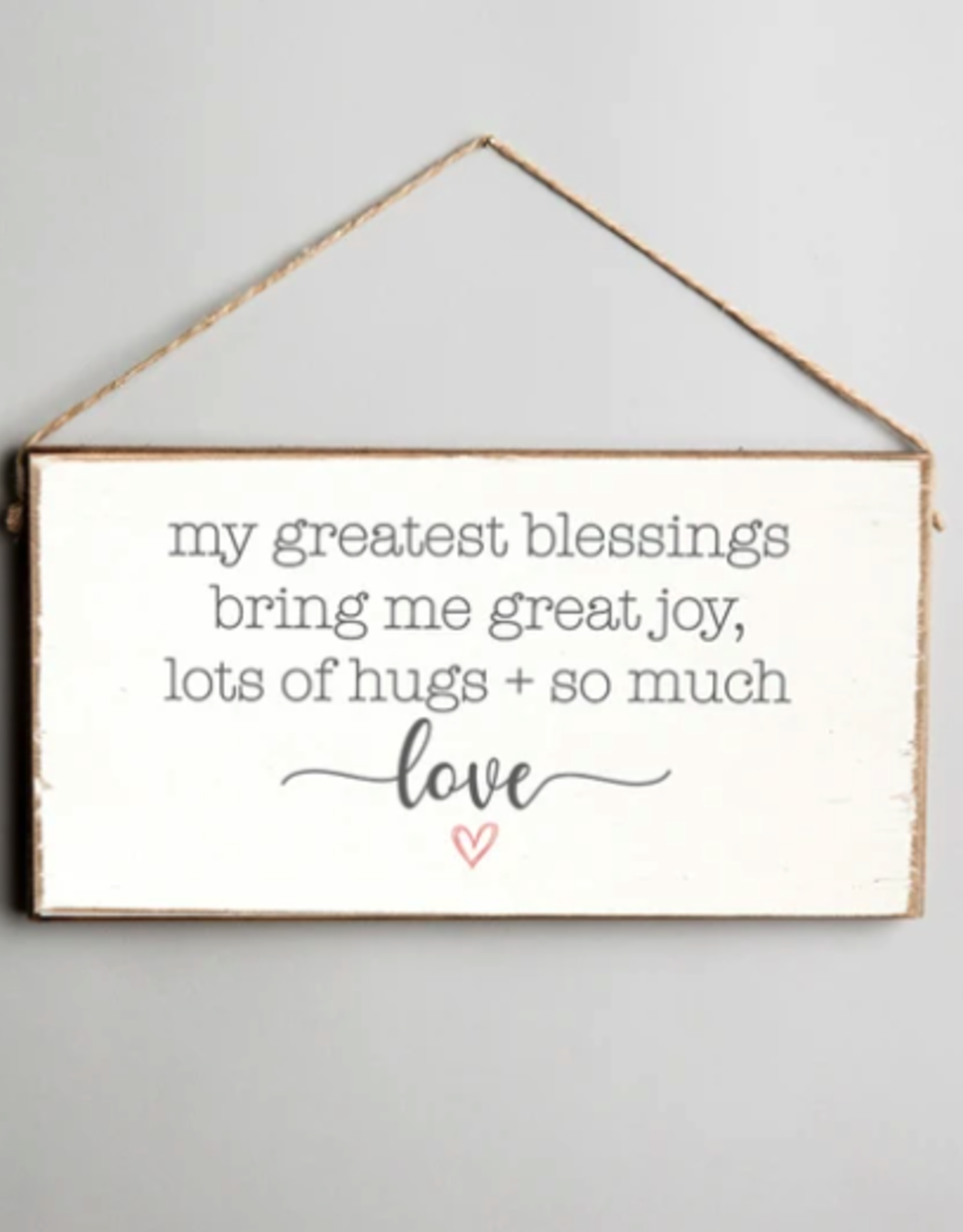 Rustic Marlin Rustic Marlin - My Greatest Blessings Bring Me Mini Plank Sign