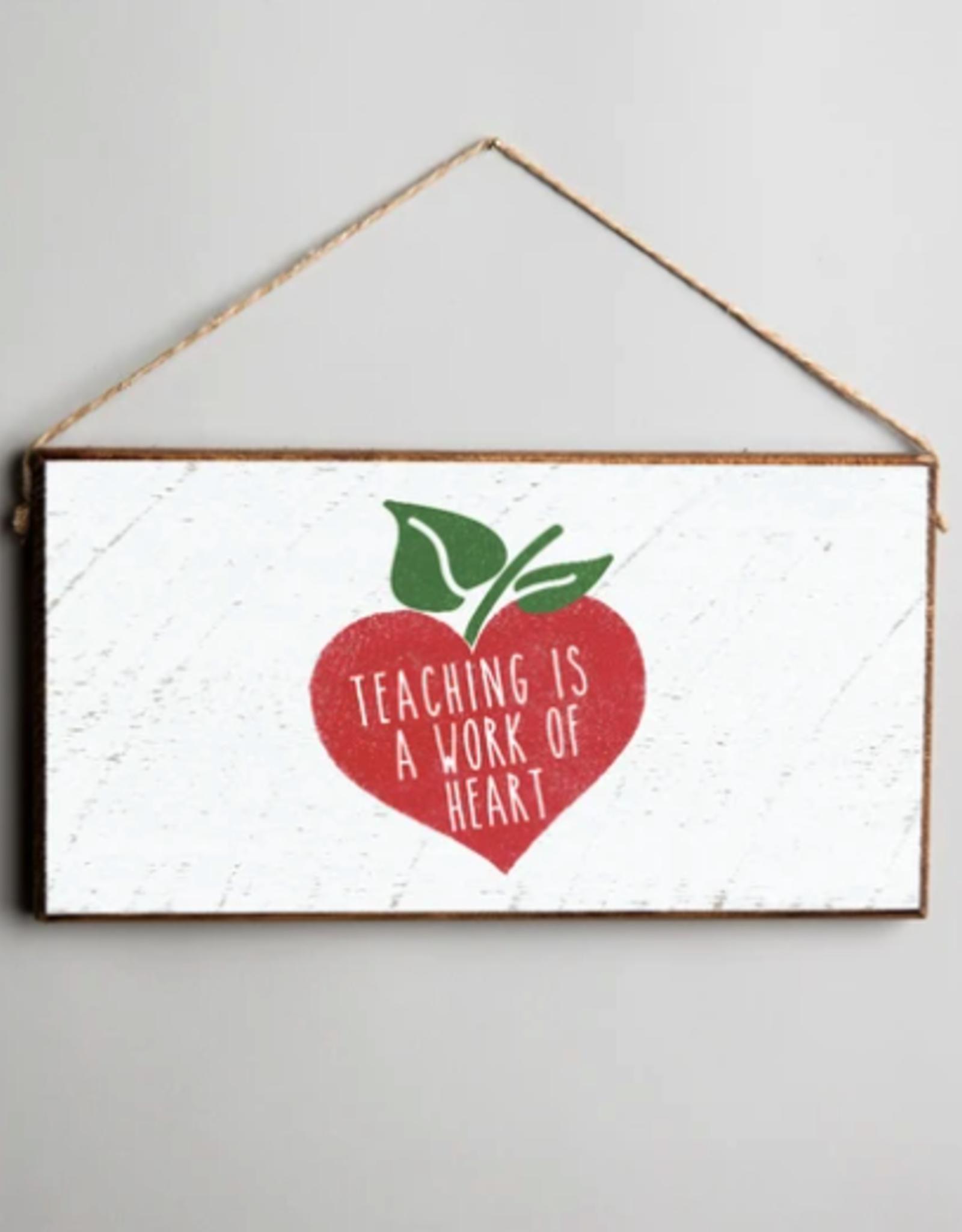 Rustic Marlin Rustic Marlin Mini Plank Teacher Heart