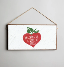 Rustic Marlin Rustic Marlin Mini Plank Teacher Heart