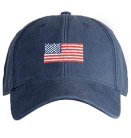 Harding Lane Harding Lane - American Flag - Navy Adult Hat