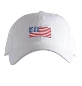 Harding Lane Harding Lane - American Flag - White Adult Hat