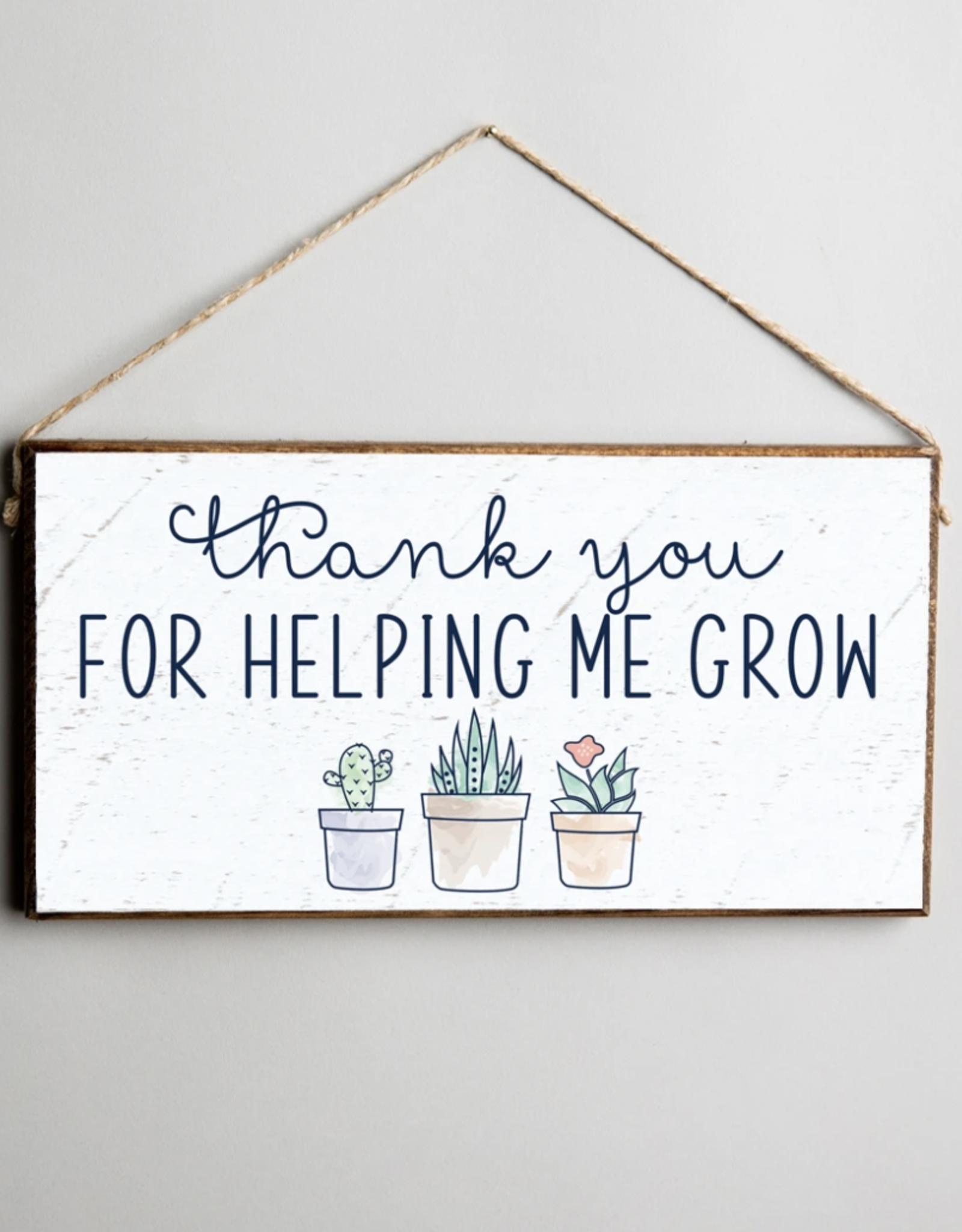 Rustic Marlin Rustic Marlin Mini Plank - Thank You Grow