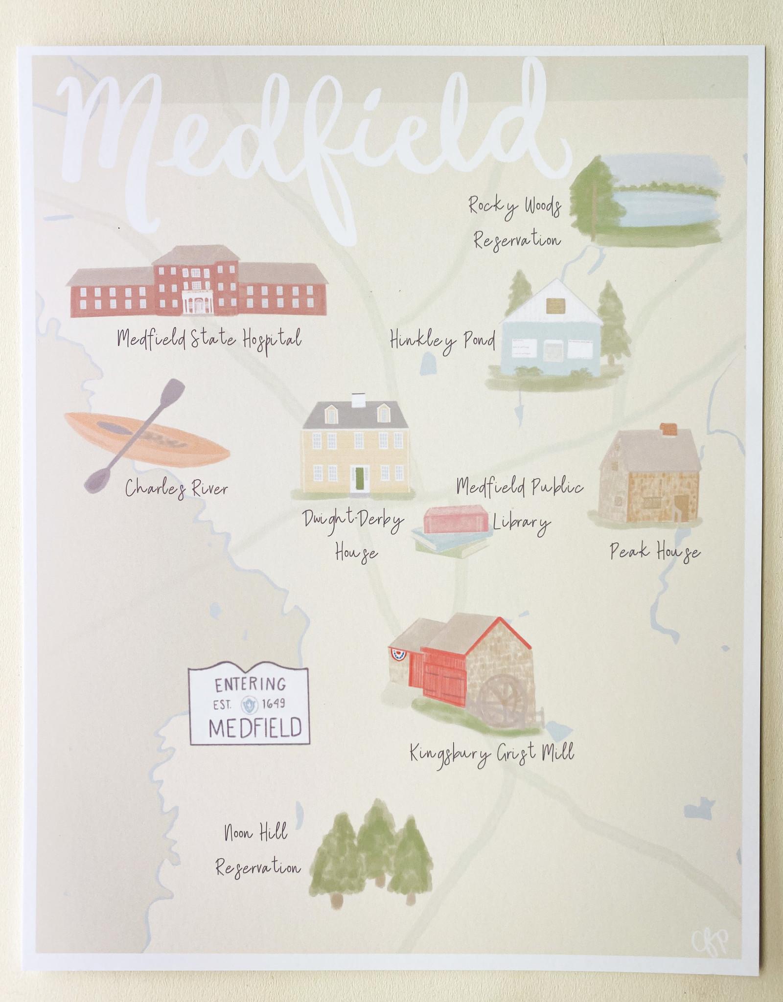 Palm Prints - Medfield Map