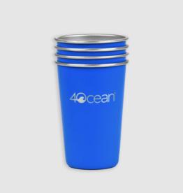 4Ocean 4Ocean - Reusable Stainless-Steel Cups 4 Pack