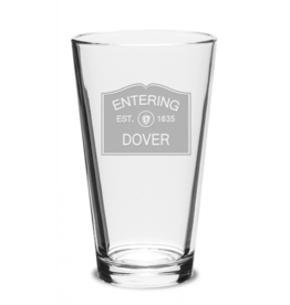 Dover Glassware - Entering Dover 1635 Pint Glass