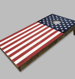 Rustic Marlin Rustic Marlin - American Flag Cornhole Set