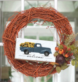 Rustic Marlin Rustic Marlin - Mini Plank - Welcome Sunflower Truck