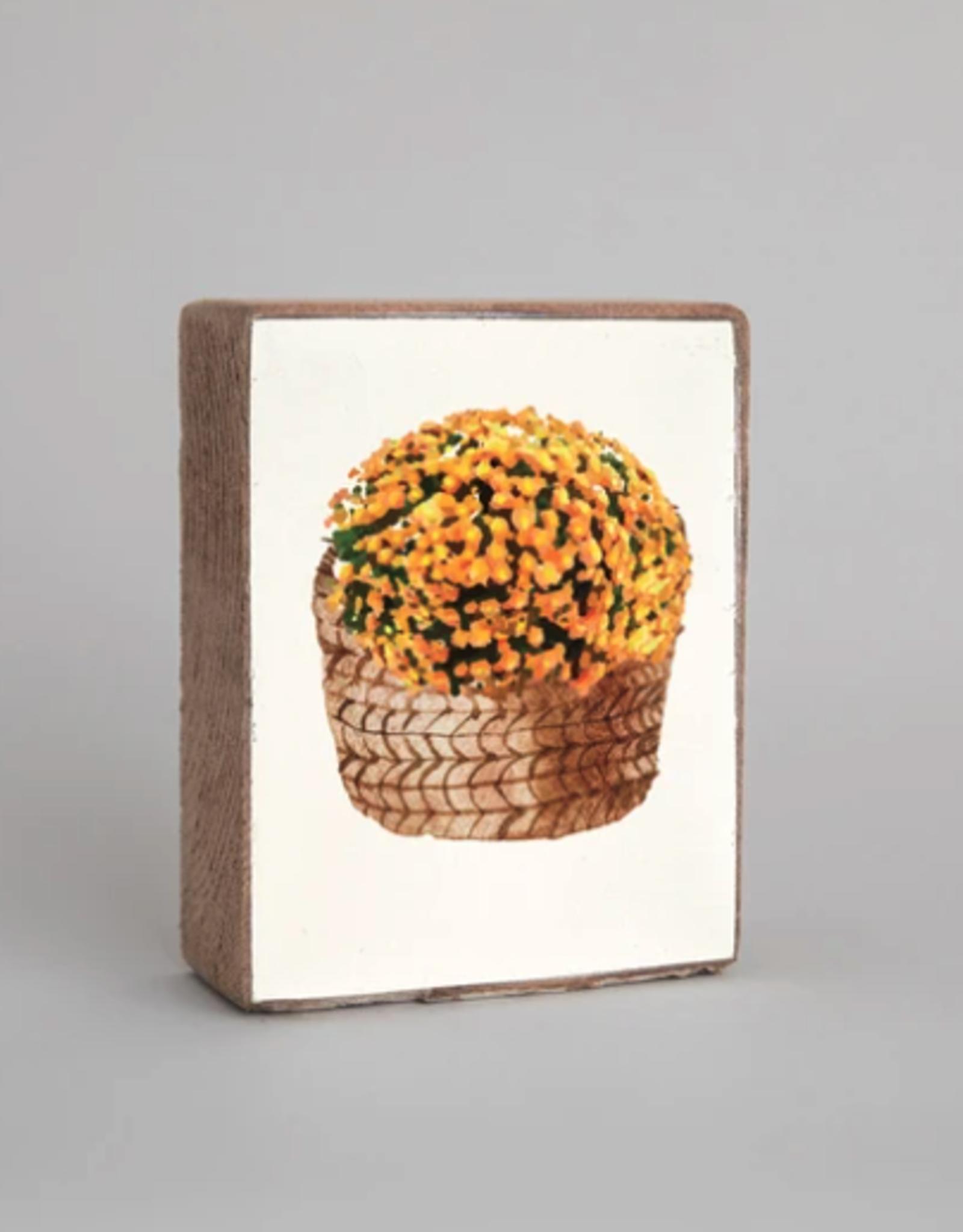 Rustic Marlin Rustic Marlin - Wood Block Mum Basket