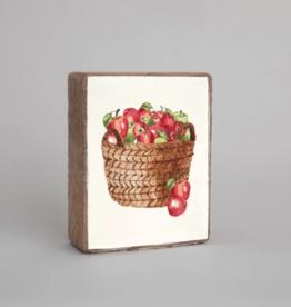 Rustic Marlin Rustic Marlin - Wood Block Apple Basket