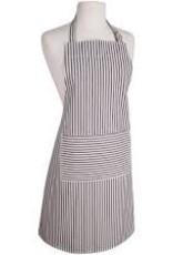 NOW DESIGNS Now Design Black Apron Narrow Stripe