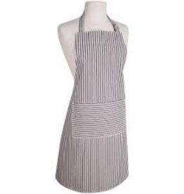 NOW DESIGNS Now Design Black Apron Narrow Stripe