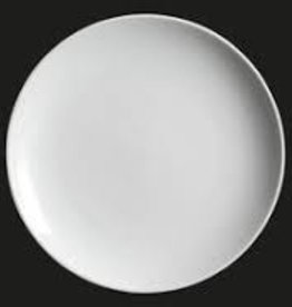 "UNIVERSAL ENTERPRISES, INC. 11.25"" round coupe plate white"