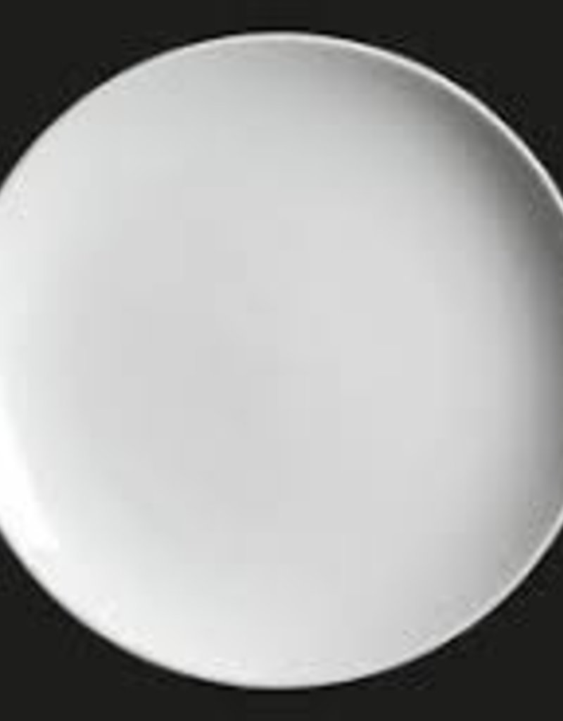 "UNIVERSAL ENTERPRISES, INC. 11.25"" round coupe plate white"