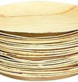 "Leafware 9"" Disposable Palm Leaf Round Plate 25ct"