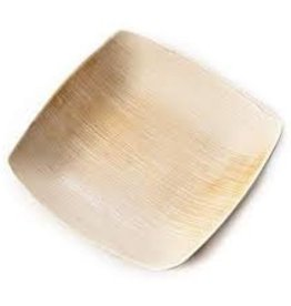 "Leafware 5"" Disposable Palm Leaf Square Plate"