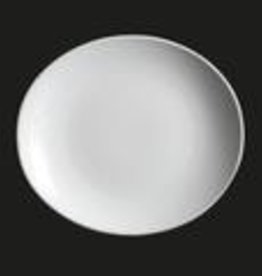 "UNIVERSAL ENTERPRISES, INC. 11x9.75"" Oval Plate white"