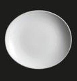 "UNIVERSAL ENTERPRISES, INC. 11x9.75"" Oval Plate white 12/cs"