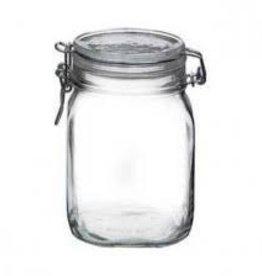 BORMIOLI ROCCO GLASS Bormioli Fido Jar 0.75L/25.4 oz  w/ Clamp