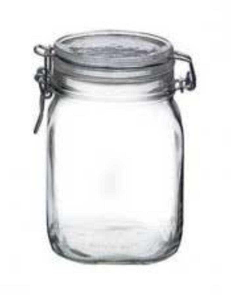 BORMIOLI ROCCO GLASS Bormioli Fido 25.5 oz Jar  w/ Clamp