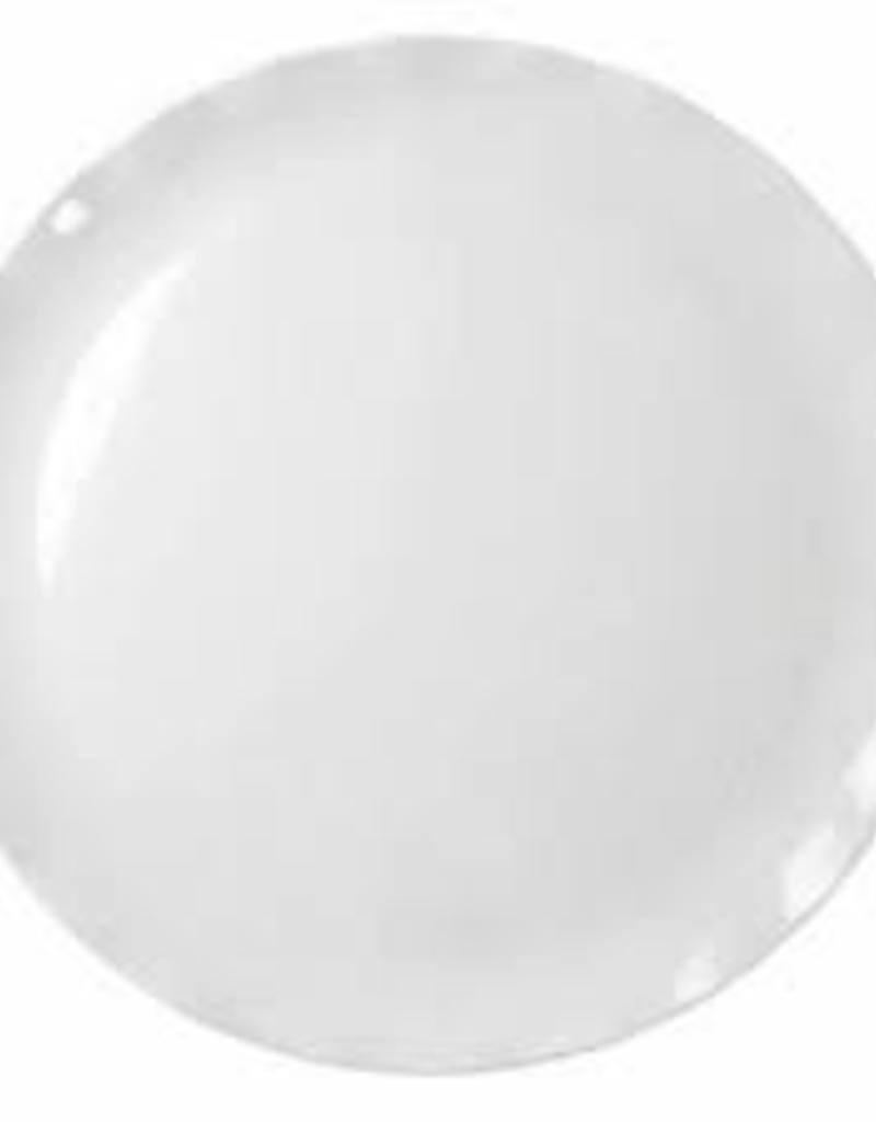"THUNDER GROUP, INC Thunder 18"" Melamine Round Plate White with Black Pearl Line"