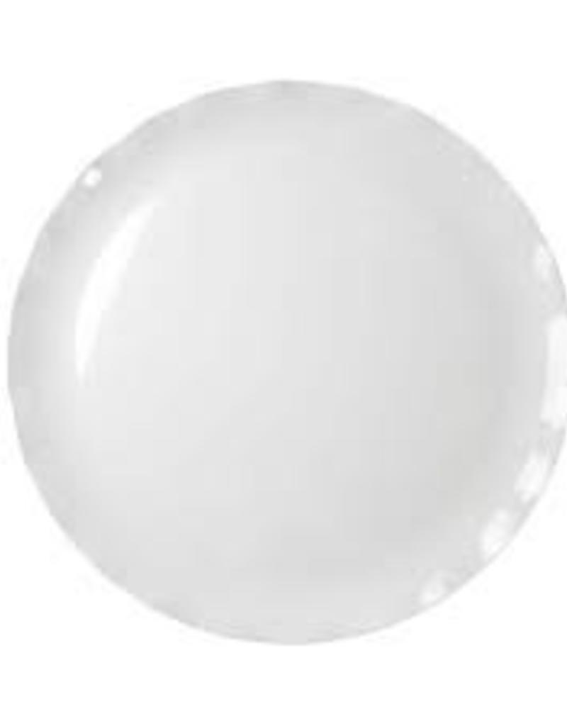 "THUNDER GROUP, INC 20"" Melamine round Plate White (Black Pearl Line)"