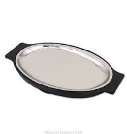 "Alegacy Food service Steak Platter 7x10.5"" Alum Oval Alegacy"
