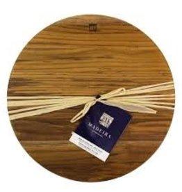 "Architec ARCHITEC Madeira Teak-Edge wood round chop block 14""x1.25"" Board"