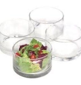 ARTLAND, INC Cylinder Nappy Bowl Set of 4 Glass