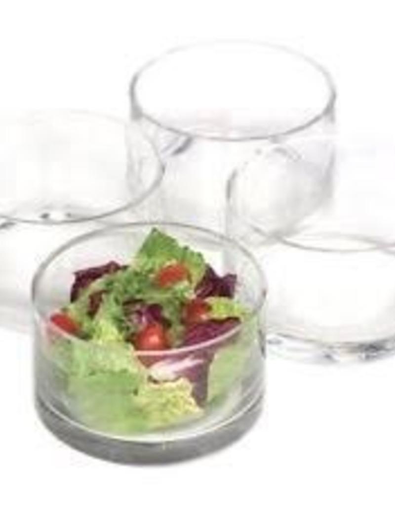 ARTLAND, INC Cylinder Nappy Bowl Set of 4 Glass
