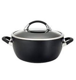 BONJOUR (BRADY'S MARKETING) / MEYER BONJOUR 5.5qt Casserole Symmetry Black NS Exterior Circulon