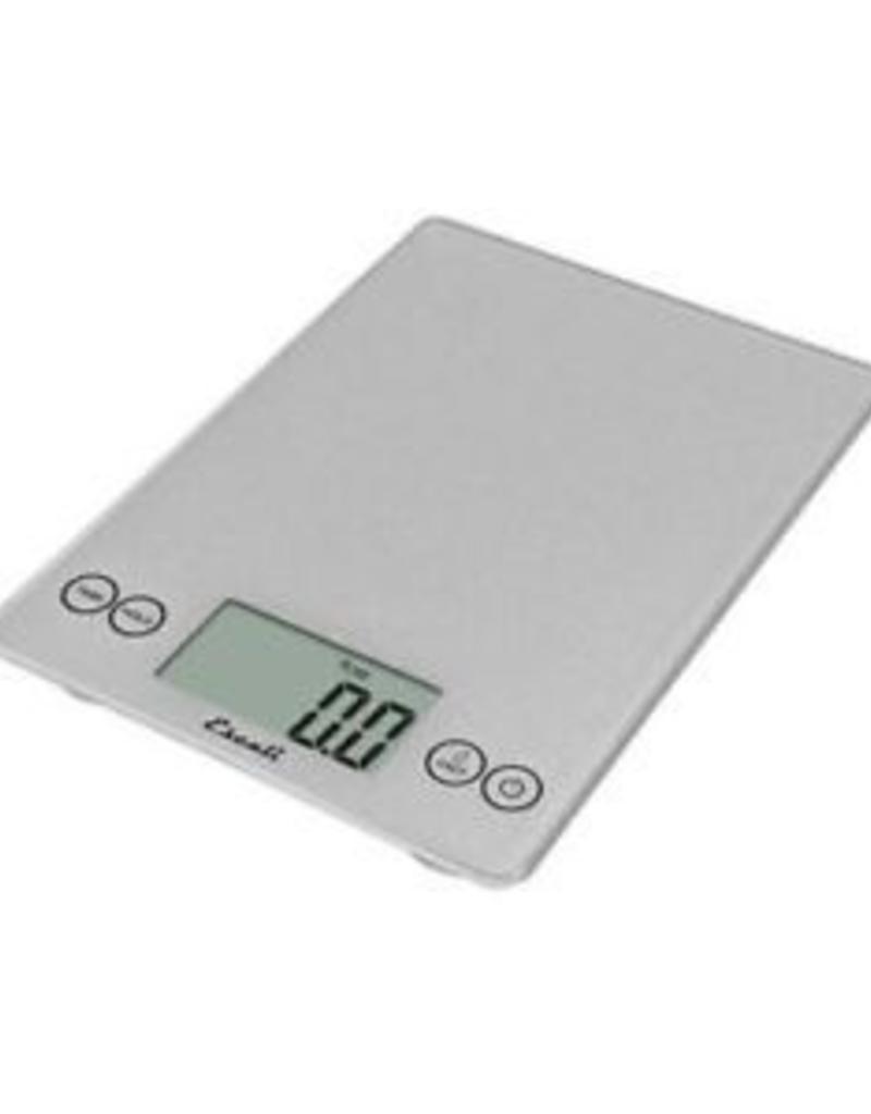 ESCALI ESCALI Arti, Digital Glass Scale, 15lb / 7 Kg, Shiny Silver