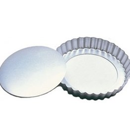 "Fat Daddios FAT DADDIO'S Fluted Tart Pan with Removable Bottom 4 1/4"" x 1"""