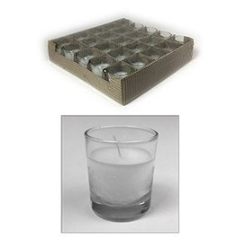 GENERAL WAX & CANDLE General Wax Filled Votive candle Glass-Clear / White Wax