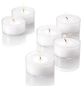 GENERAL WAX & CANDLE General Wax Tealights- 50 per bag white