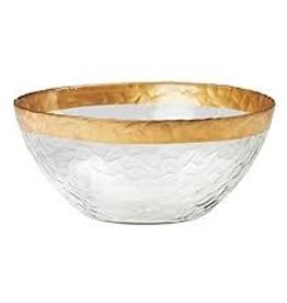 GLOBAL AMICI GLOBAL AMICI Leonardo Glass Serving Bowl with Gold Rim
