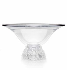 GODINGER Glass Bowl Rose Bouquet Pattern<br /> lalique design