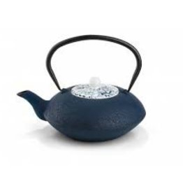 Gourmet Kitchenworks/Gefu Bredemeijer 40 fl oz Cast Iron Teapot with procelain lid